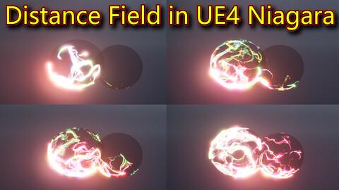 Distance Field Effect in UE4.26 Niagara