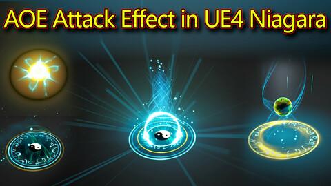 AOE Attack Effect in UE4.26 Niagara