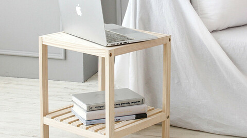 New Song Wood Mini Table Side Table