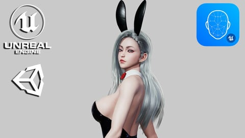 Bunny Girl - Game Ready