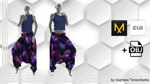 Female outfit. Harem Pants