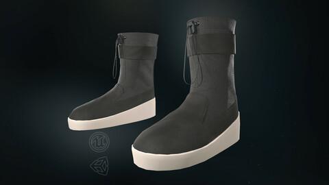 Black Ski Lounge Boots - 3D Model