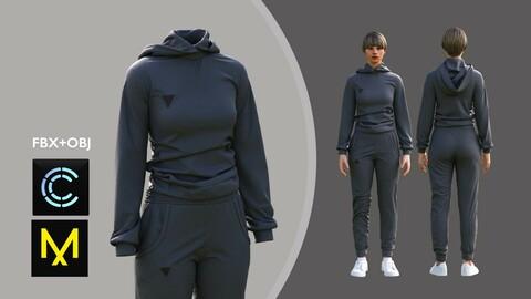 Female Sport Outfit. Marvelous Designer/Clo3d project + OBJ + FBX