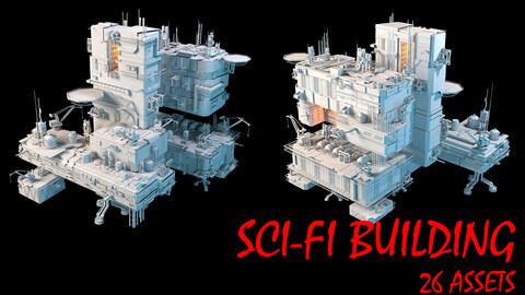 SCI-FI BUILDING ASSETS 3D model