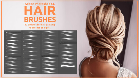 Hair brushes pack 1