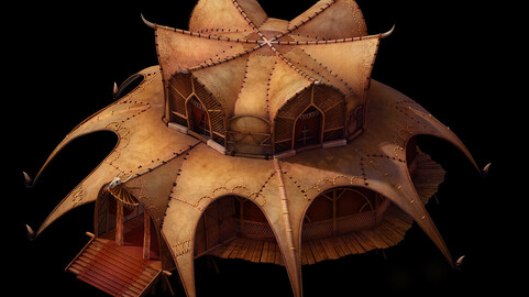 Desert Gobi - Golden Tent Palace 01
