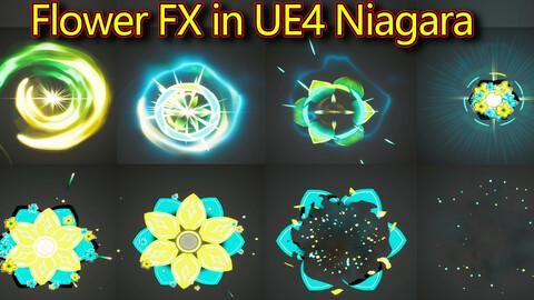 Flower FX in UE4.26 Niagara