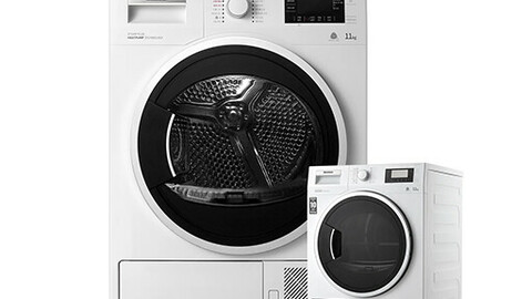Heat pump steam plus (steam + fragrance) clothes dryer large capacity 11kg