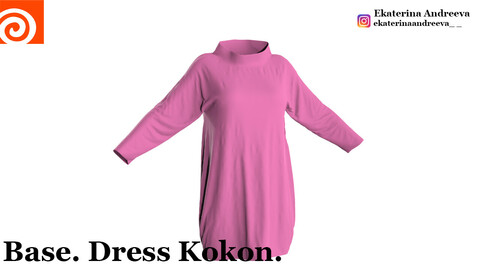Houdini clothing. Base. Dress Kokon.