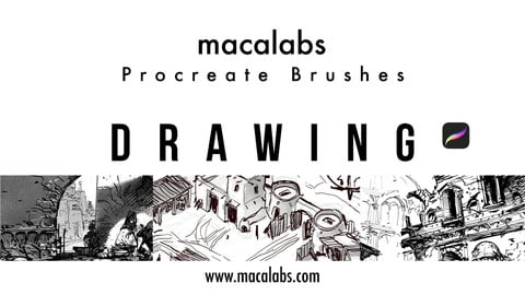 MACALABS_Drawing. Procreate Brushpack