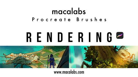 MACALABS_Rendering. Procreate Brushpack