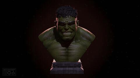 Hulk Bust - 3D printable model