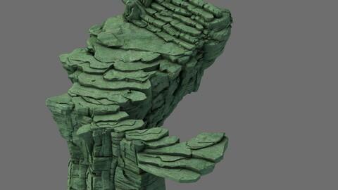 Mountain - terrain stone staircase 02
