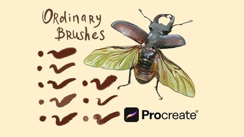 ProCreate Brushes, 4 Types. 43 Brushes