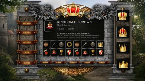 Medieval-RPG-Game user interface