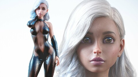 3d model Woman Vannila