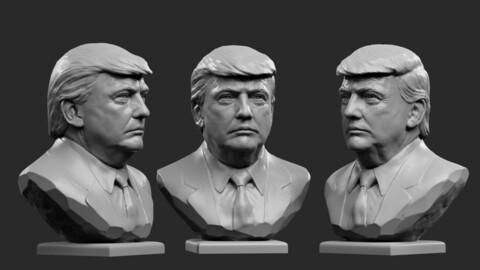 Donald Trump . Bust 1