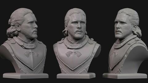 Jon Snow, bust 3