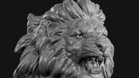 lion face head 2