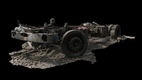 PBR Dismantled Truck Frame UE5/3DS Max/V-Ray