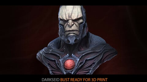 Darkseid bust Ready for printing 3D