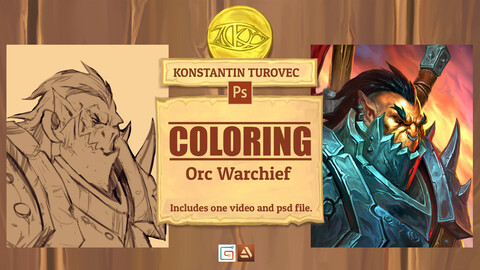 Coloring - Orc Warchief