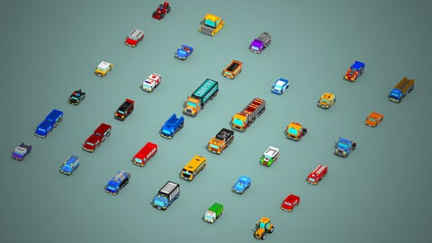 35 cars with low pixels
