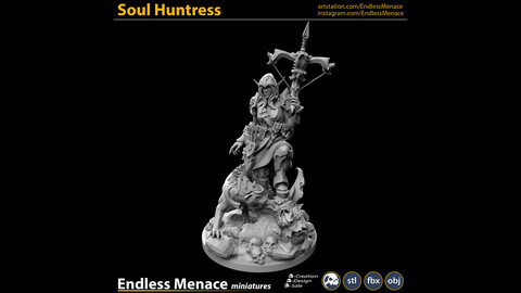 Soul Huntress   3D print ready