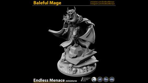 Baleful Mage   3D print ready