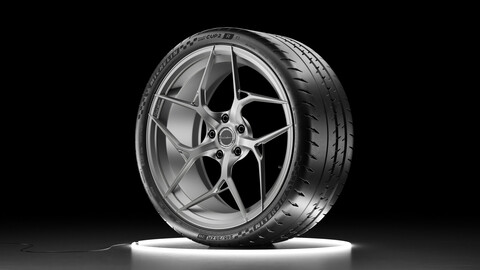 Wheel set Michelin Pilot Sport Cup 2R and Brixton Forged PF5 rim