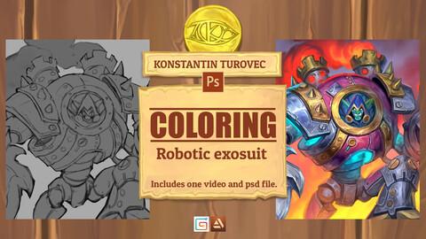 Coloring - Robotic exosuit