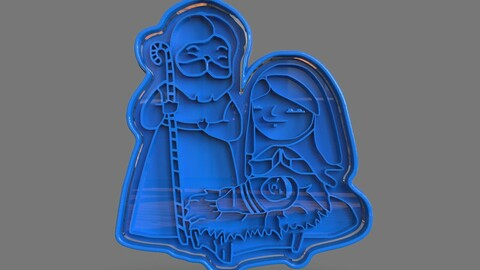 Christmas Cookie Cutter Nativity
