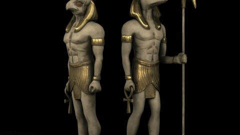 4k Egyptian statues