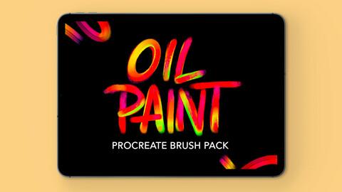 Procreate Brushset - Oil Paint | Design 2 Last