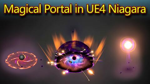 Magical Portal in UE4.26 Niagara