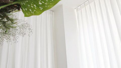 Custom Curtain Butterfly Wrinkle White Blackout Curtain