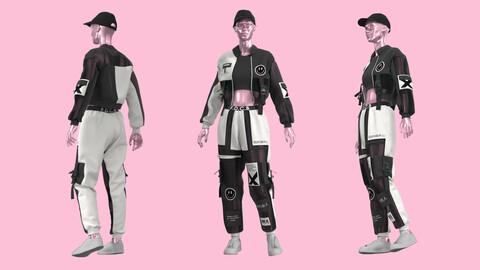 Female Outfit Marvelous Designer , Clo3D