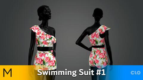 Swimming Suit / Swimsuit 01 Marvelous Designer, CLO3D