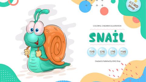 Fast cartoon snail