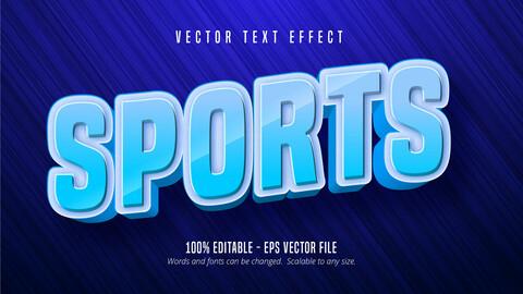 Sports text, sport style editable text effect