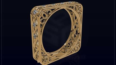 Creative Square Ring