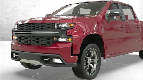 Chevy Silverado 2020 lowpoly concept
