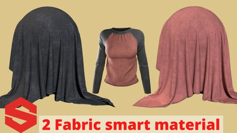 2 fabric smart material : Raglan shirt