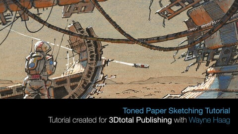 Scifi Sketching on Toned Paper Tutorial