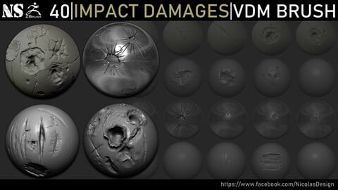 Zbrush - Impact Damages VDM Brush