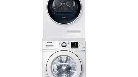 Bubble Shot Drum Washing Machine + Dryer WF12F9K3UMW11+DV90R6200QW