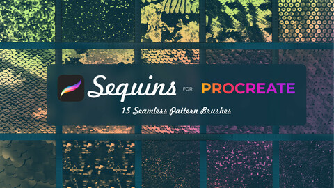 15 Sequins brushes for Procreate
