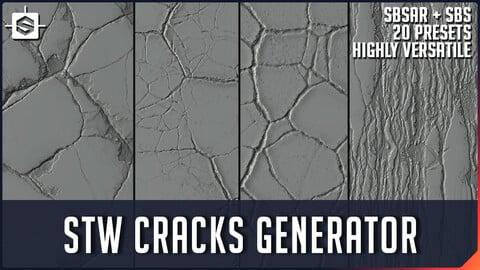 STW Cracks Generator - Substance Designer Tool