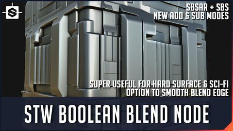 STW Boolean Blend - Substance Designer Tool