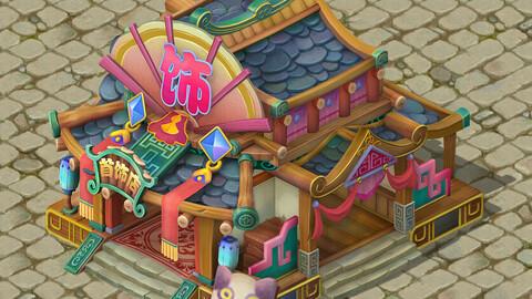 Cartoon version - jewelry shop